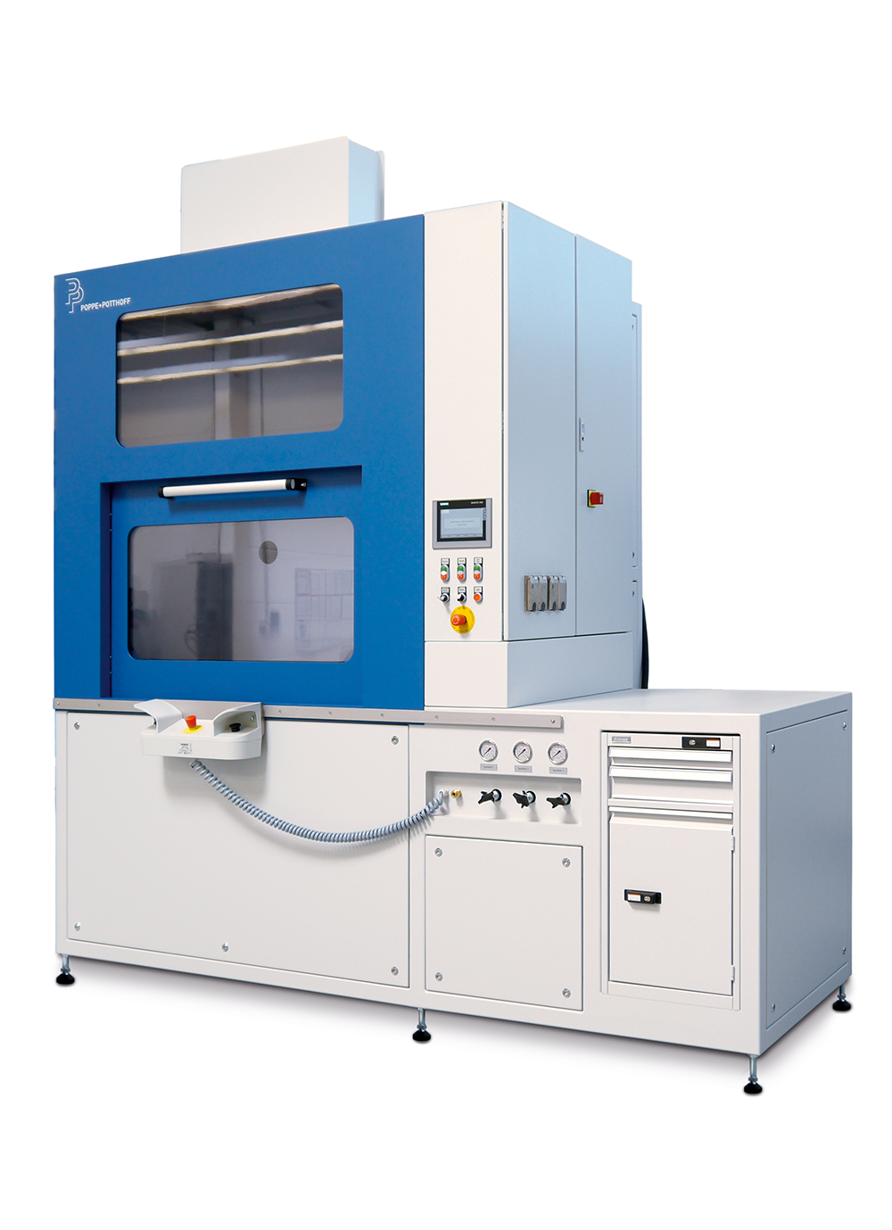 Autofrettage machine to increase fatigue strength of metal components